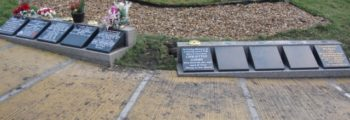 Our Second set of 5 Plinth Wedges have been placed in our Ashes Memorial Garden.