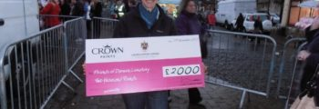 FODC Collect a cheque for £2,000.00 from the  Crown Awards.