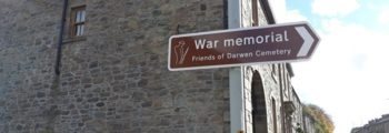 Our New Road Signs for our WW1 Memorial
