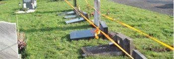 Graves Flattened in Darwen Eastern Cemetery