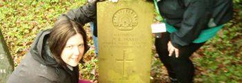 War Grave wreath presentation in Darwen Cemetery