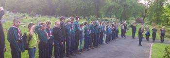 Bold Venture Scouts visit Darwen Cemetery