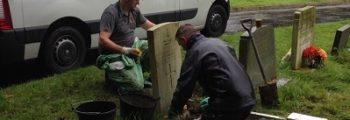 CWGC Clean the Cemetery War Graves